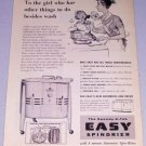 1954 Easy Spindrier 2 Tub Washer Appliance Vintage Print Ad