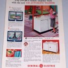 1954 General Electric GE Automatic Washer Color Appliance Print Ad