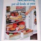 1954 General Electric Model LH-121L Revolving Shelves Refrigerator 2 Page Color Print Ad
