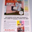 1955 Kelvinator Electric Stove Range Color Appliance Color Print Ad