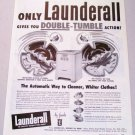 1948 Launderall Double Tumble Automatic Washer Appliance Vintage Print Ad