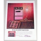1962 Caloric Ultramatic Built-In Range Color Print Ad