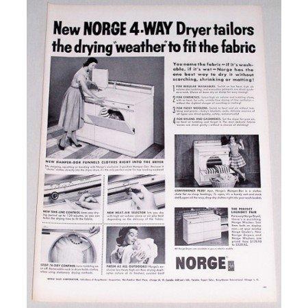 1956 Norge 4 Way Model D5 Dryer Vintage Print Ad