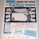 1953 Servel Model HF-153 Cold Seal Chest Freezer Vintage Print Ad