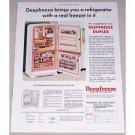 1955 Deepfreeze Duplex Refrigerator Color Print Ad