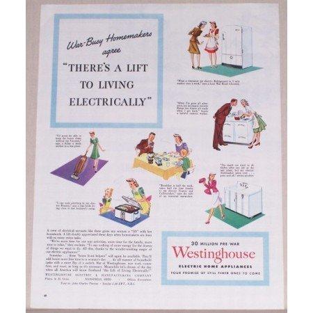 1945 Westinghouse Electric Home Appliances Color Print Ad