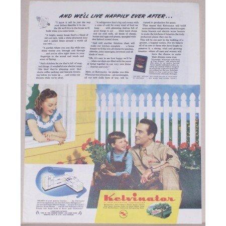 1945 Kelvinator Electrical Kitchens Color Print Wartime Ad