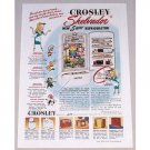 1948 Crosley Shelvador 5 Way Refrigerator Color Print Ad