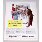 1946 Frigidaire Cold Wall Refrigerator Color Print Ad