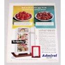 1950 Admiral Dual-Temp Refrigerator Color Print Ad