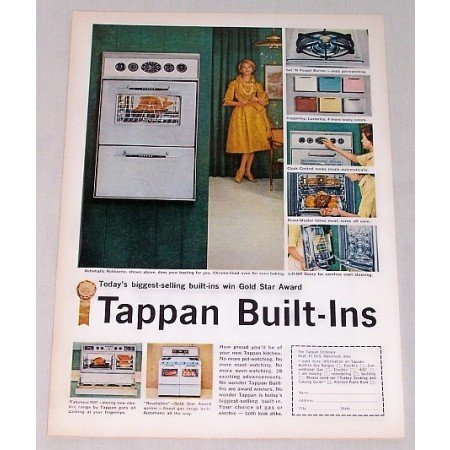 1959 Tappan Built-Ins Ranges Color Print Ad