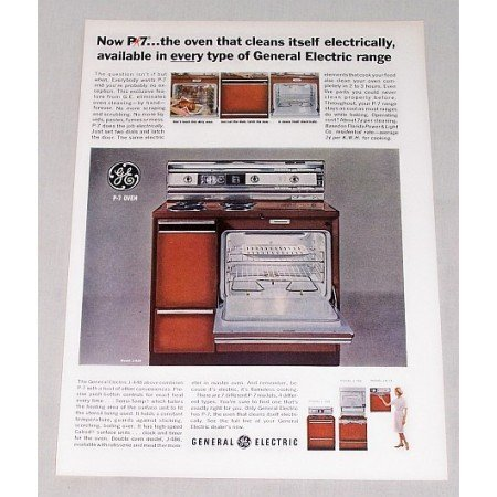1965 General Electric J 448 Range Stove Oven Color Print Ad