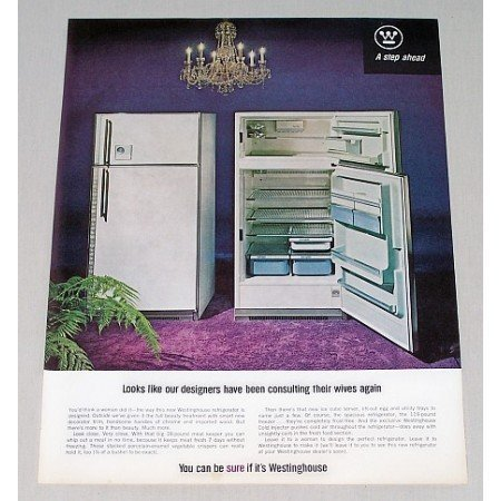 1964 Westinghouse Refrigerator Color Print Ad