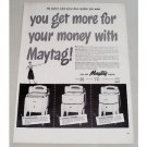 1948 Maytag Wringer Washer Vintage Print Ad - Get More For Your Money