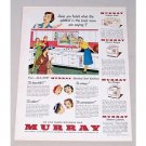 1950 Murray Matched Steel Kitchens Color Print Ad