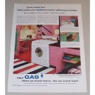 1957 Philco Bendix Gas Duomatic Washer Dryer Color Print Ad