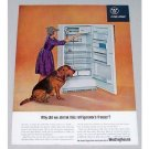 1963 Westinghouse Space King Refrigerator Freezer Color Print Ad