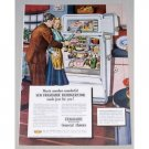 1948 Frigidaire Cold Wall Imperial Refrigerator Color Print Art Ad