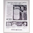 1948 General Electric Wringer Washer Vintage Print Ad - Washing A Snap