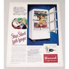 1948 Servel Gas Refrigerator Color Print Ad - Stays Silent