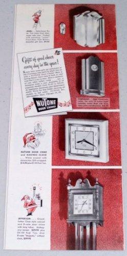 1947 Nutone Door Chimes Vintage Color Christmas Print Ad