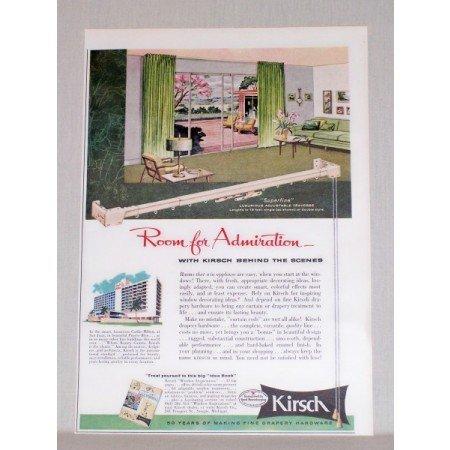 1957 Kirsch Drapery Hardware Color Print Ad
