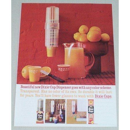 1961 Dixie Cup Transparent Dispenser Color Print Ad