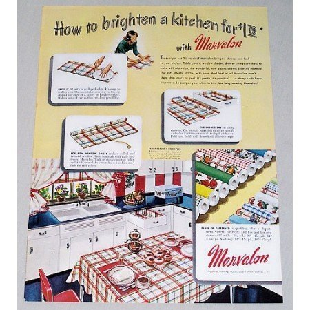 1948 Marvalon Plastic Coverings Color Print Ad