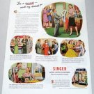 1945 Singer Sewing Centers Vintage Print Color Ad - I'm A Success