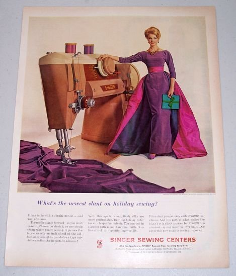 1960 Singer Sewing Centers Color Sewing Machine Print Ad