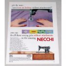 1953 Necchi Sewing Machine Color Print Ad - Ask The Man