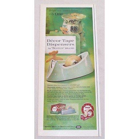 1961 Scotch Brand Decor Tape Dispensers Color Print Ad