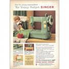 1959 Singer Portable Model Sewing Machine Color Print Ad