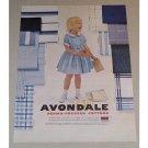 1957 Avondale Perma-Pressed Cottons Vintage Print Ad