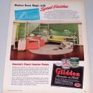 1949 Glidden Interior Paint Color Print Ad - Modern Room Magic