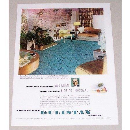 1948 Gulistan Renaissance Ocean Turquoise Carpet Color Print Ad