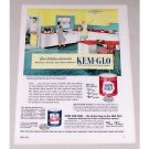 1953 Kem Glo Wall Paint Color Print Ad - Your Kitchen Desert