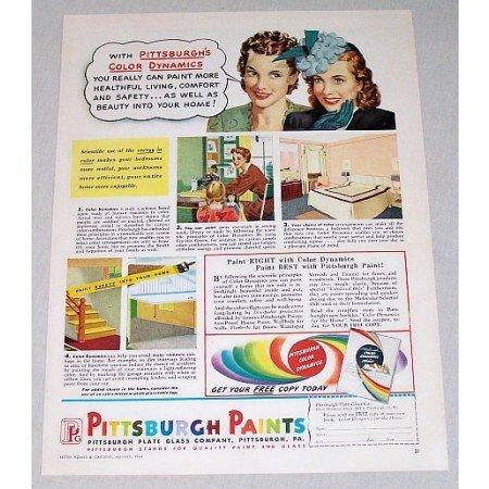 1946 Pittsburgh Paints Color Print Ad - Color Dynamics