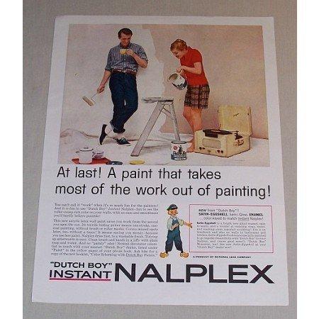 1958 Dutch Boy Instant Nalplex Paint Color Print Ad