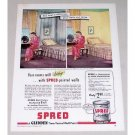 1945 Glidden Spred Wall Paint Color Print Ad
