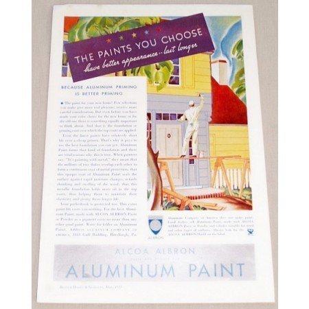 1935 Alcoa Aluminum Paint Color Print Ad - Paints You Choose
