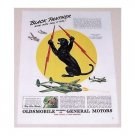 1944 Olds GM Wartime WWII Color Print Art Ad BLACK PANTHER SQUADRON