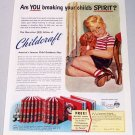 1950 Childcraft Child Guidance Book Plan Color Print Art Ad