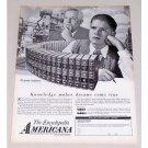 1958 Encyclopedia Americana Vintage Print Ad