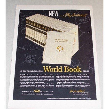 1955 Aristocrat World Book Encyclopedia Series Color Print Ad