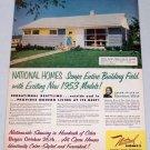 1952 Vintage Color Print Ad for 1953 Model National Homes Corporation