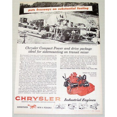 1955 Chrysler Industrial Engines Vintage Print Ad Industrial 30 Engine