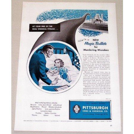 1953 Pittsburgh Coke Chemical Co.Coal Chemicals Vintage Print Ad
