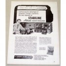 1953 Stabiline Automatic Voltage Regulators Vintage Print Ad