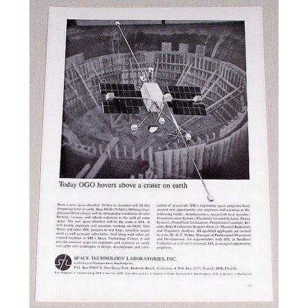 1962 Space Technology Laboratories NASA OGO Vintage Print Ad